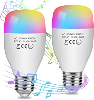 Aigital Smart WiFi Light Bulb,LED Bulbs Dimmable Color Changing Bulbs Music Mode Smart Light Bulb Compatible with Alexa (Easy Setup, Group Control, Remote Control, No Hub Required) (2 Pack)