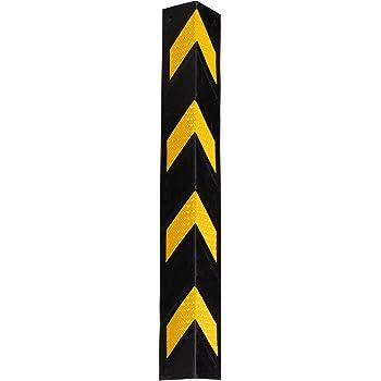 Kirstein Stagecaptain KS-8010 Kantenschutz - Eckenschutz aus flexiblem Gummi - Länge: 78 cm - Mit Reflektoren - Schwarz/gelb