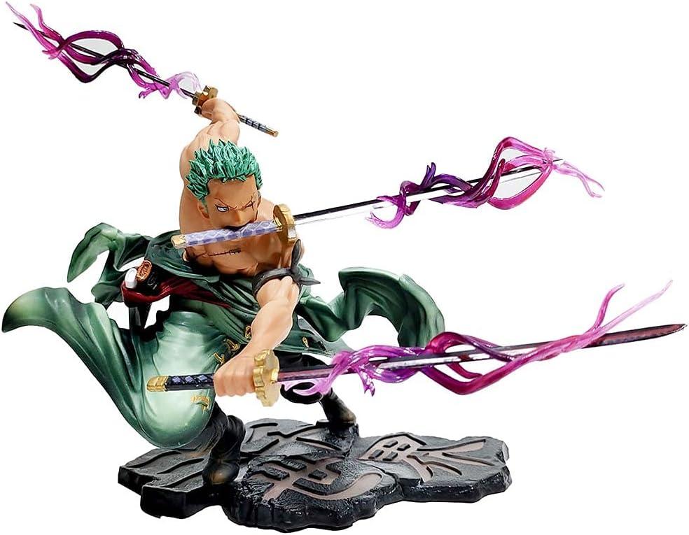 MICOKID One Piece Roronoa Zoro GK Ornaments Long Beach Mall Static Max 41% OFF Statue Doll 3