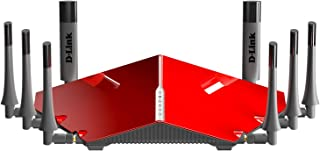 D-Link AC5300 Gaming Router MU‑MIMO ULTRA Wi‑Fi Router Tri-Band (DIR-895L) RED/GREY_Color depend on the availability