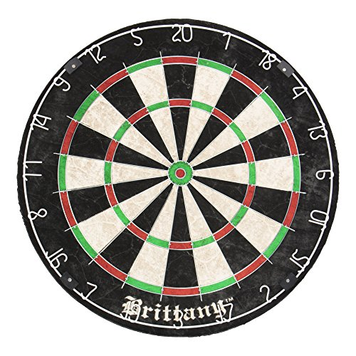 DMI Sports Brittany Recreational Bristle Dartboard Features Self-Healing Sisal Fibers for Years of Use