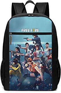 Mochila Mochila de Viaje Free Fire Backpack Laptop Backpack School Bag Travel Backpack 17 Inch