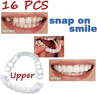 16ピース化粧品歯を白くする快適義歯上列再使用可能な柔軟な化粧品デンタルベニヤ義歯ケア完璧な笑顔デンタルケアアクセサリー