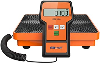 Elitech LMC-100A Digital Electronic Refrigerant Charging Recovery Scale with Wired Remote for HAVC Portable Case 220lbs/100kgs