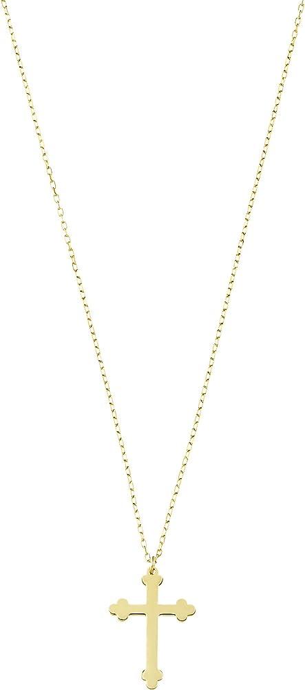 Stroili collana unisex con pendente croce in oro giallo 1409482
