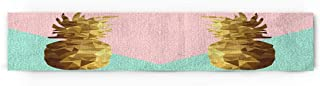 Prime Leader Memphis Style Pink and Teal Pineapple Cotton Linen Table Runner Party Supplies Home Decorations for Kitchen Dining Room Wedding Birthday Baby Shower & Everyday Use 14 x 72 inch
