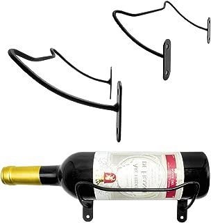 VEEBOOD Wall Mounted Metal Wine Rack Hanging Wine Bottle/Hand Towel Holder (Black, Set of 3)