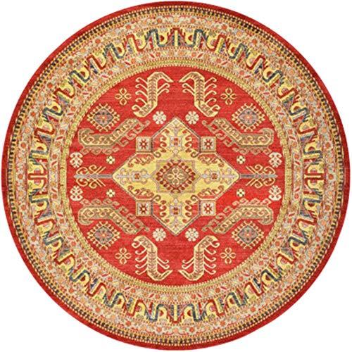 Lzcaure-HO Alfombra nórdica étnica colorida alfombra súper suave antideslizante absorbe felpudo lavable alfombra de entrada, zapatos de salón étnico vintage (color: 18, tamaño: 140 cm)