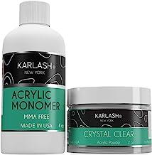 Karlash Professional Polymer Kit Acrylic Powder Crystal Clear 2 oz and Acrylic Liquid..