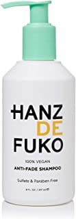 Hanz de Fuko Premium Anti-fade Shampoo- Vegan Shampoo for Color Treated Hair (8oz) Sulfate and Paraben Free