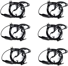 HYT Hytera Walkie Talkies Earpiece with Mic for Hytera Two Way Radios 2 Pin Soft Clip-Ear Security Headset for TC500 TC518 TC580 TC600 TC610 TC700 etc by LUITON(6 Pack)