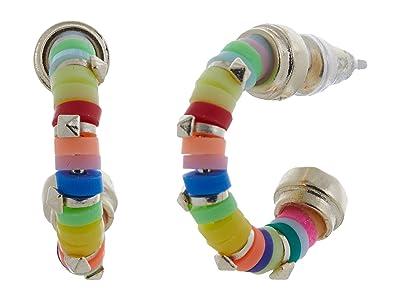 Kendra Scott Reece Huggie Earrings (Gold Neon Mix) Earring