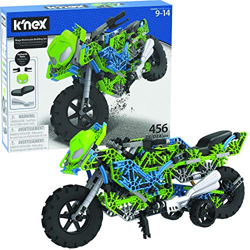 K'NEX Mega Motorcycle Building Set - Ages 9+ - 456 Parts - Working Suspension, Authentic Replica Model, Advanced Stem Building Toy for Boys & Girls - 14.5