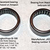 7100rpm Maximum Rotational Speed Koyo B-65 Needle Roller Bearing 9//16 OD 5//16 Width Open Full Complement Drawn Cup 3//8 ID Inch