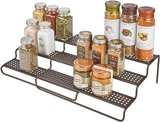 mDesign étagère à épice pour le placard de la cuisine – rangement épices télescopique pour plus d'ordre dans la cuisine – ...