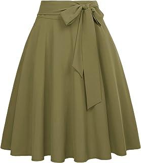 Belle Poque BP560 50s Retro Vintage Rockabilly Skirt Women's Knee-Length Festive Skirts