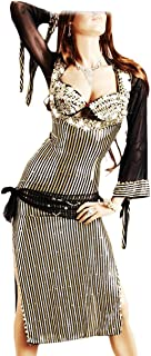 Oriental Handmade Costume Belly Dance en Lycra 3 Embroidery Pieces