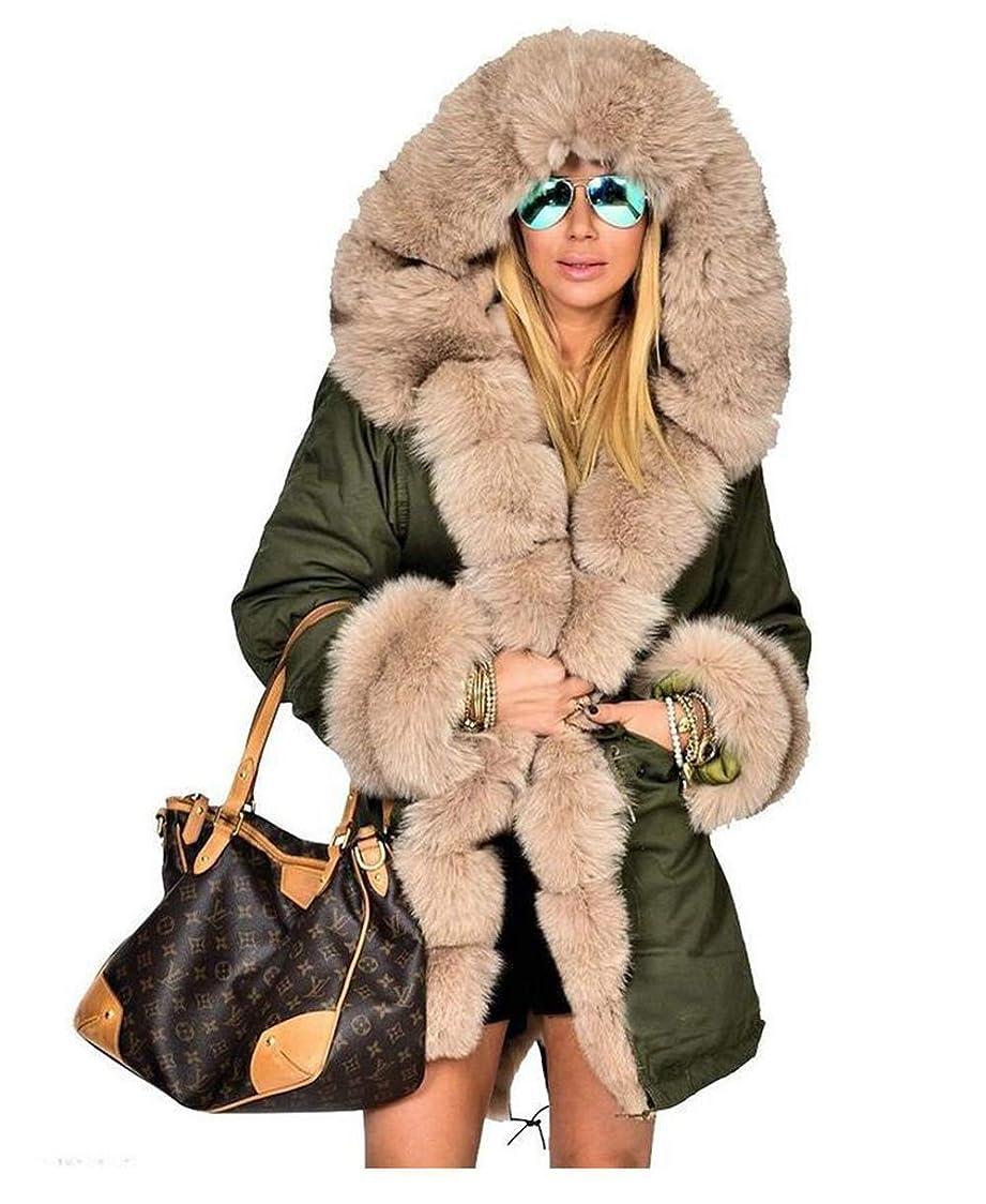 キャンセル元気全く女性ウィンターコートファーフード付きジャケット女性ロングコットンカジュアルコートレディースウォームウィンターパーカー女性オーバーコート,S