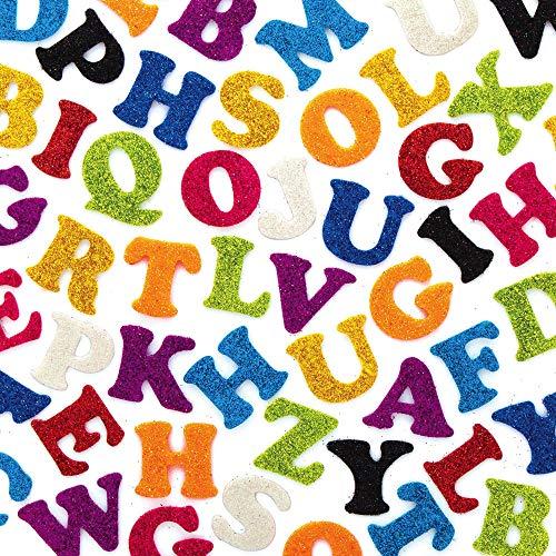 Baker Ross AX360 Lettere Autoadesive In Feltro Glitterato - Confezione Da 500, Confezione Conveniente, Perfette Per I Bambini Per Lavoretti, Attività In Classe E Progetti Di Gruppo Di Artigianato
