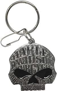 harley davidson skull ring silver