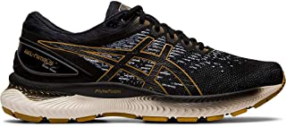 ASICS Men's Gel-Nimbus 22 Knit Running Shoes, 12.5M, Black/Black
