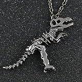 DAYUFEI Dinosaurier Halskette Tyrannosaurus Skeleton Silber Gold Schwarz Gun Farbe Anhänger Fashion...