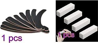 Snner ジェルネイルバッファー ネイルファイル ネイルオフ 爪やすり 爪磨き 両面100/180バッファー 3 本ブロックバッファー ブロックバッファー ネイルシャイナー