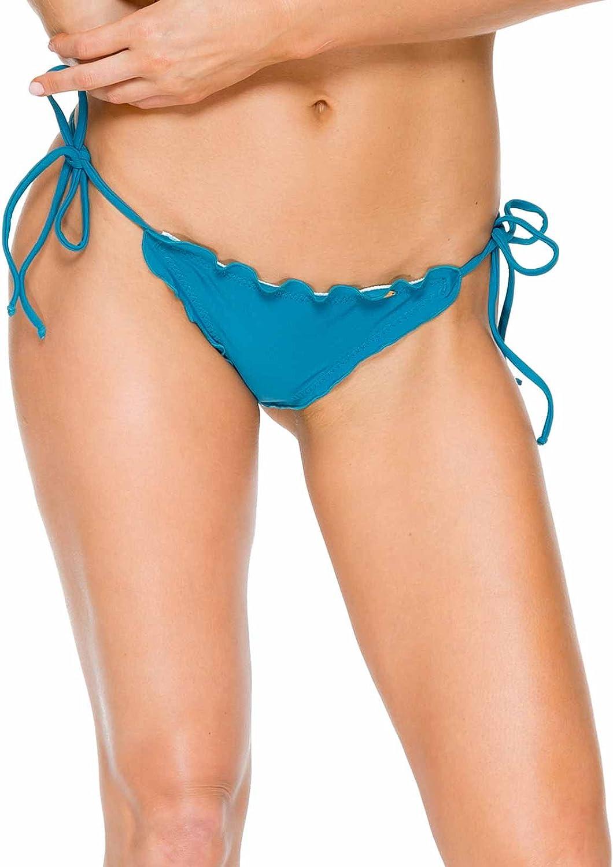 Luli Fama Women's Standard Cosita Buena Wavey Brazilian Ruched Tie Side Bikini Bottom