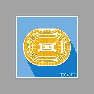 ArtsyCanvas Denver - Pepsi Center - Basketball Seating Map - 12x12 Matte Poster Print Wall Art