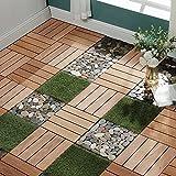 GOLENER Wood Interlocking Floor Tiles