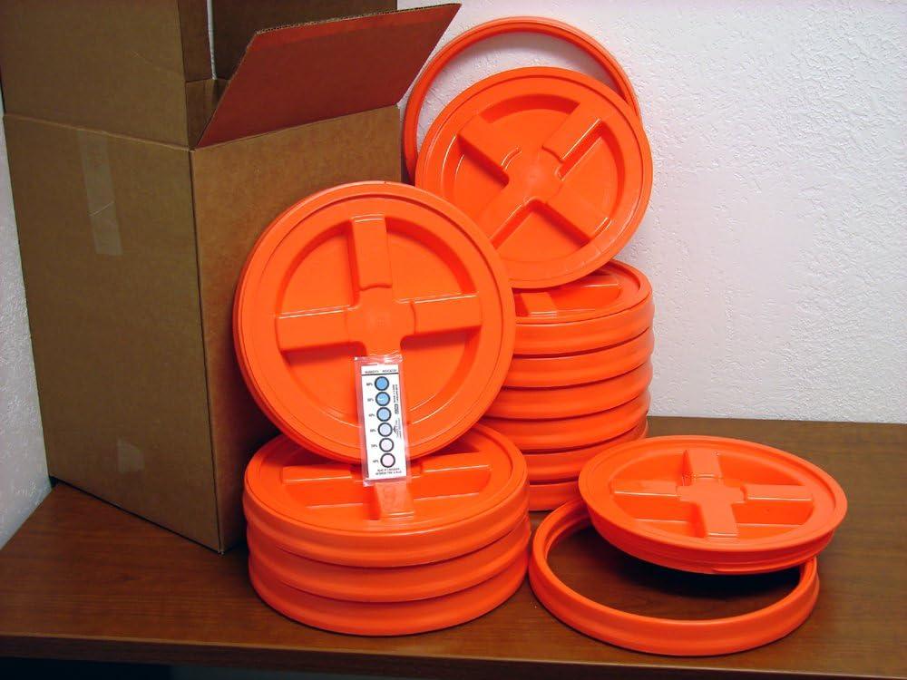 出群 Gamma Seal Lid Orange 通販 12 Pack Boxed - 5 New Gallon Bucke