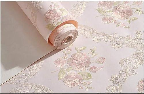 XFDJYA Papier Peint Fleurs de Jardin sous Pression à Trois DiPour des hommesions - Papier Peint tissé Non tissé