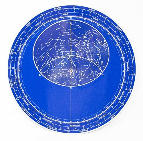 Planisferio luminiscente gigante 28 cm - Mapa estelar brilla en la oscuridad - Calendario rotatorio con fecha y hora de las Constelaciones y estrellas del universo - Melquiades Original