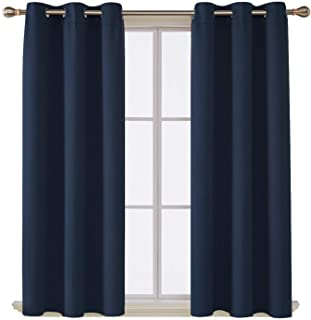 Deconovo Room Darkening Thermal Insulated Blackout Grommet Window Curtain Panel for..