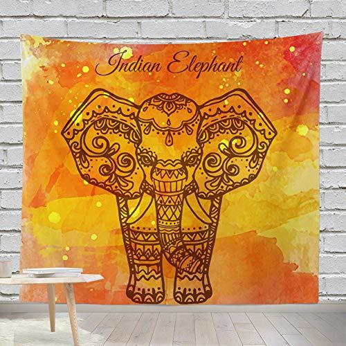 mmzki Decoración de la Sala de Estar Tapiz Europeo y Americano Tapiz de Elefante 9 150 * 200