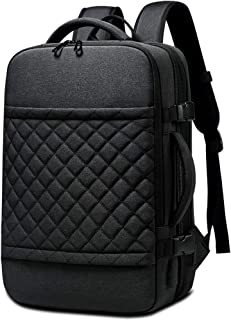 PANFU-AU Water-Repellent Computer Backpack Travel Backpack Men's Laptop Backpack 15.6 Inch Computer Backpack with USB Charging Port Nylon Casual Daypack for Leisure Business School