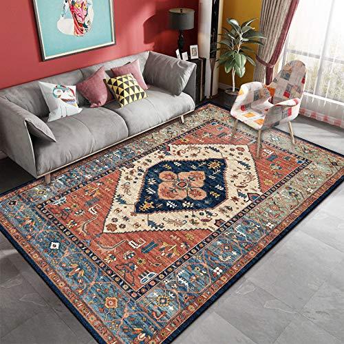 GBFR Tapis de style persan salon tapis nordique chambre canapé table marocain tapis salon décoration pour la maison tapis vintage tapis beige 80X120 Style-1
