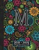 2021-2025: Agenda 5 Anni I Nome Iniziale M I Regalo Calendario Monogramma I Rubrica I Note I Lista di cose da fare I Annuale e Mensile I Pianificatore Quinquennale