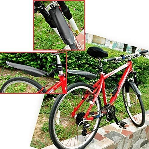 Juego de guardabarros de bicicleta de montaña MTB camino de la bicicleta Neumático delantero Guardabarros trasero de barro Guardia ciclo al aire libre de la bici MTB Accesorios Defensas Conjunto Guard