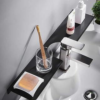 IUYJVR Support de Meuble-lavabo Suspendu, étagère d'angle de Douche Murale, Espace en Aluminium, étagères pour Organisateu...