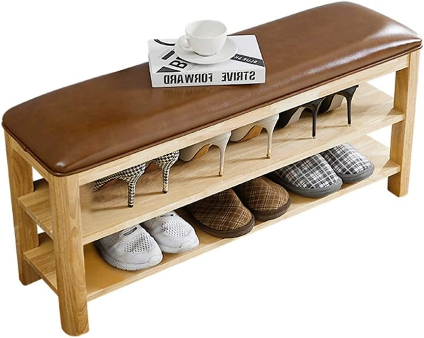 THBEIBEI Storage Benches Ranking TOP18 Hallway Baltimore Mall Shoe 2-Tier Bench Wood