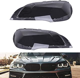 Facaimo Pair Headlight Lens Lamp Cover Lampshade Replacement for 2007-2014 BMW X5 E70