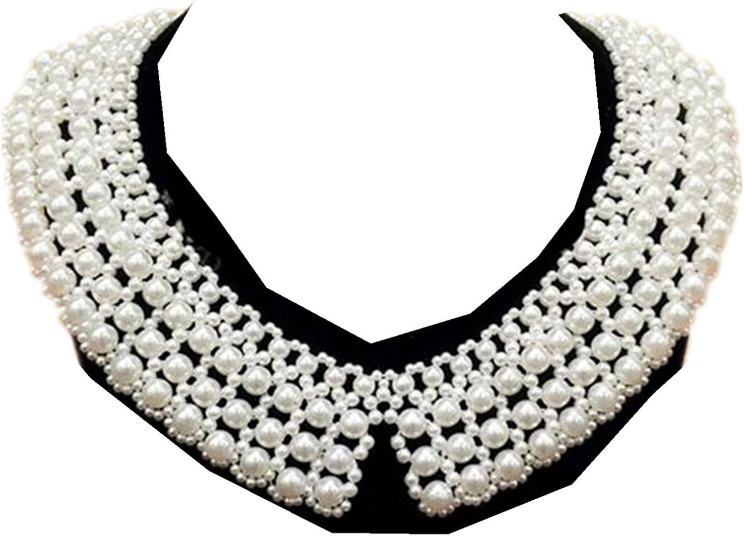 Best Memorial Dissent Collar Necklace Detachable Blouse Fake Collar Elegant Pearl Beaded Ajustable Choker Necklace Bead False Collar Necklace Feminism Female Power Jewelry for Women Costume
