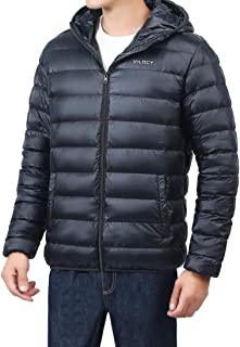 Men's Lightweight Packable Puffer Down Jacket Hooded Windproof Coat Outwear