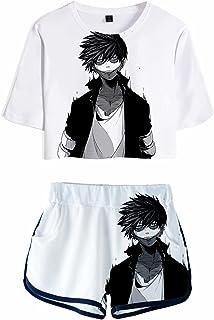 Giron My Hero Academia 3D Printed Pajama Set Colourful Vivid Casual Bakugou Hero Activewear Set Summer Manga Boku no Hero ...