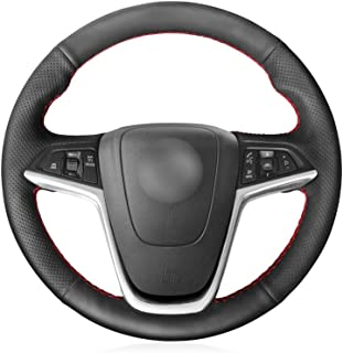 KDKDKLMB Cubierta del Volante Cubierta de Volante de Cuero sintético Negro para Opel Mokka 2013-