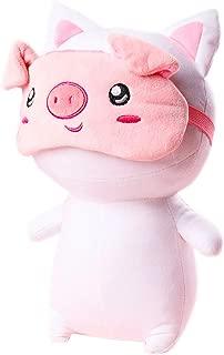YYC 1 Pcs Cartoon Pig Sleeping Blinder Velvet Eye Mask Adjustable Strap Cute Eyeshade