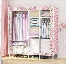 Wardrobe Storage Cabinet Simple Wardrobe Fabric Closet Folding Clothing Storage Cabinet Dustproof Wardrobe Save Space Comb...