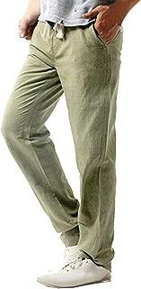 Nevera Men Casual Linen Workwear Regular Taper Pant Solid Trousers