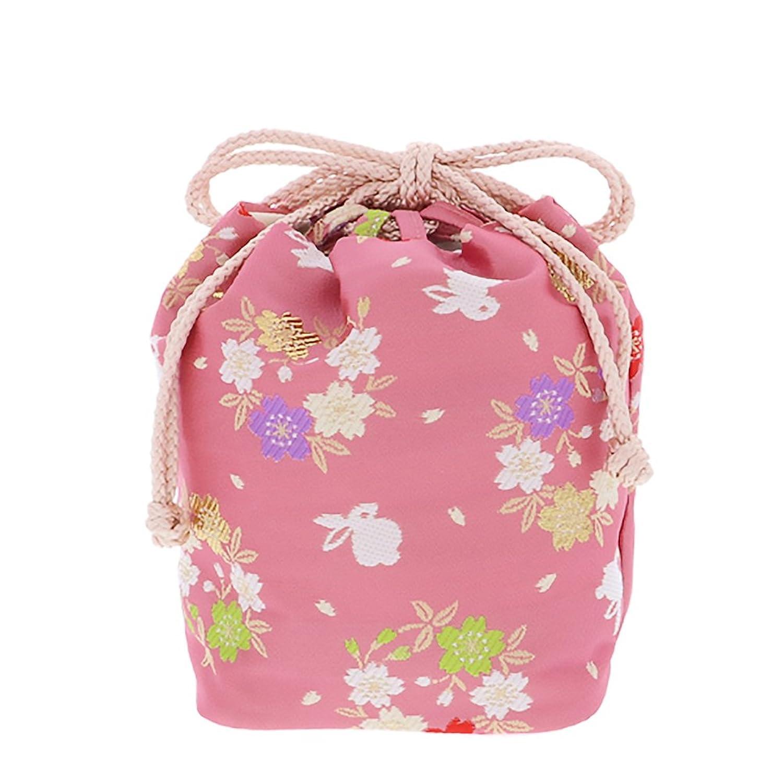 [ 京都きもの町 ] 七五三 巾着単品「ピンク 桜とうさぎ」桃の節句、ひな祭り